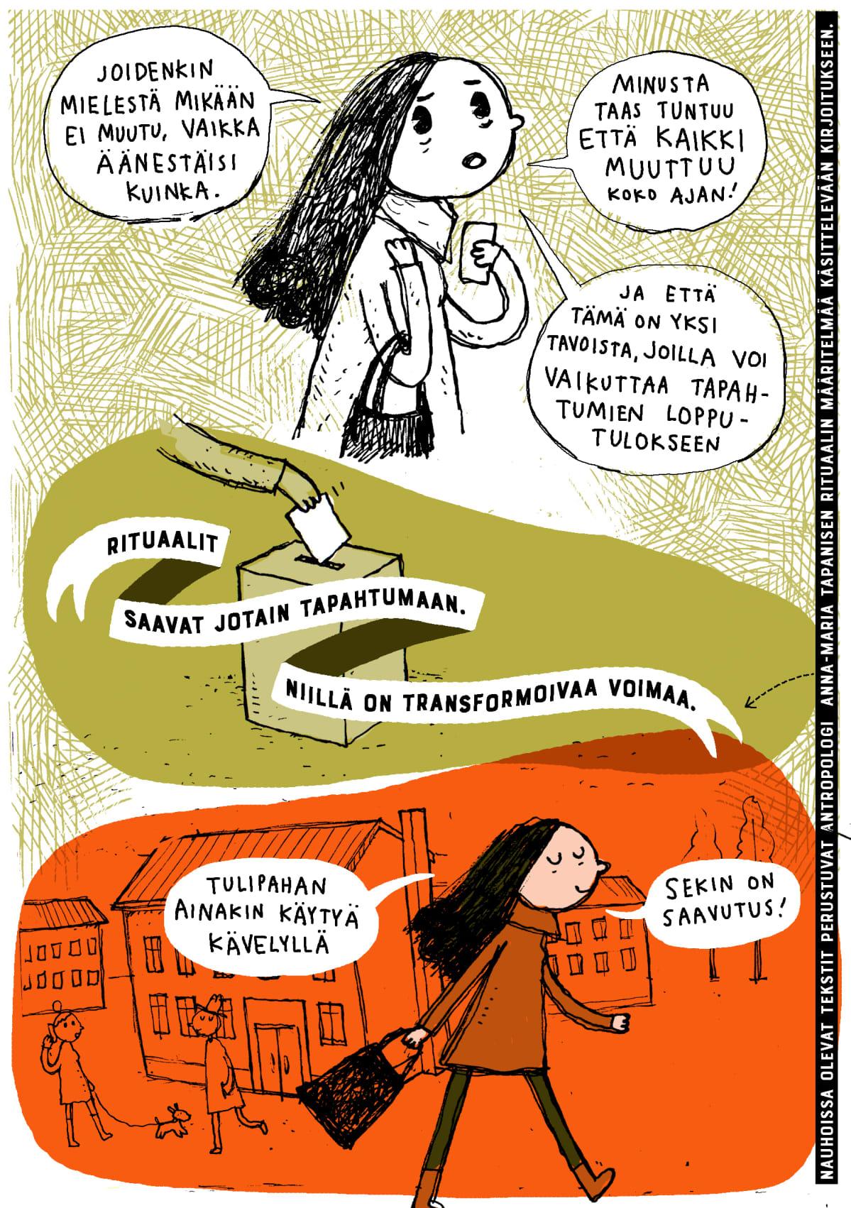 Aiju Salminen, sarjakuvakolumni, äänestäminen, kuva 4