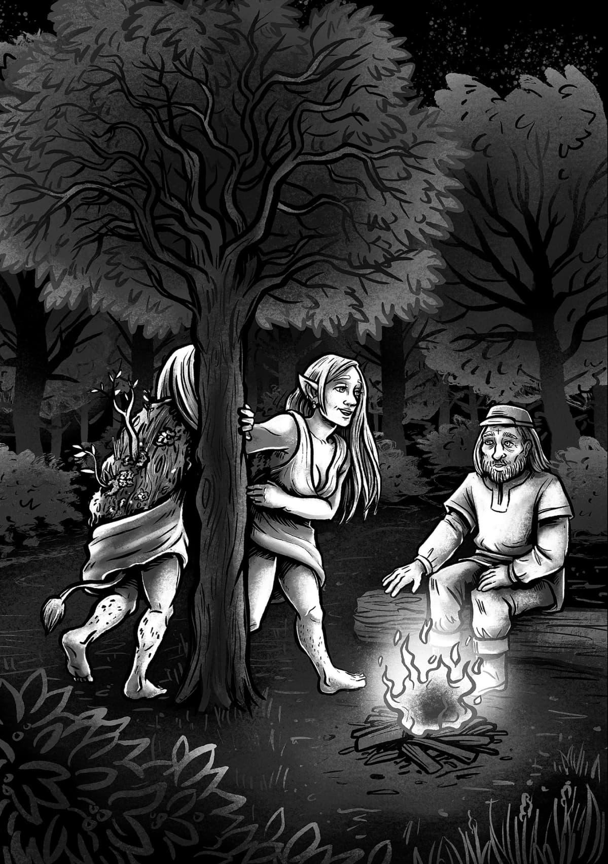 Apila Pepita, Pohjolan jumalattaret, Metsänneito