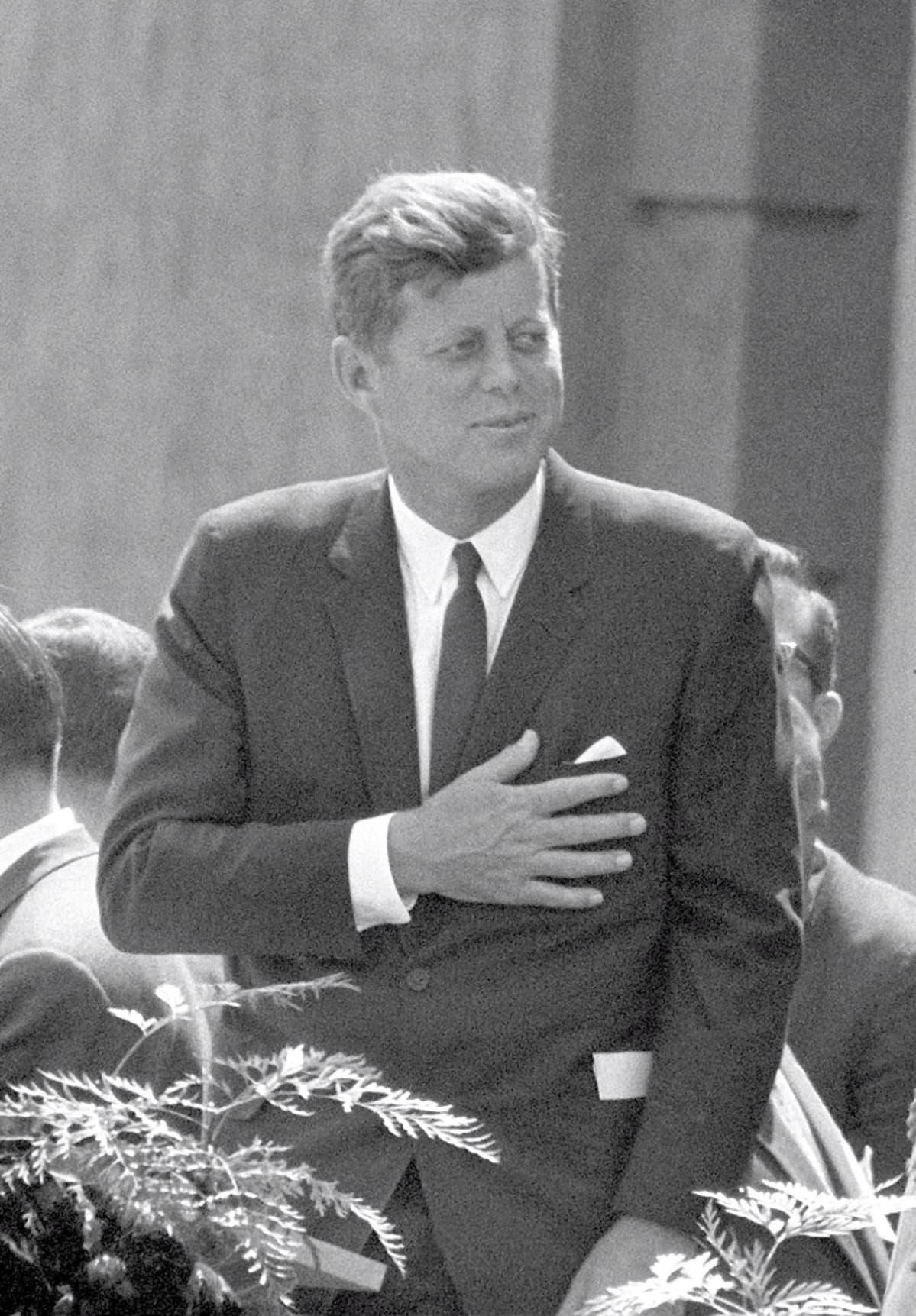 John F. Kennedy vierailulla Berliinissä 26.6. 1963.