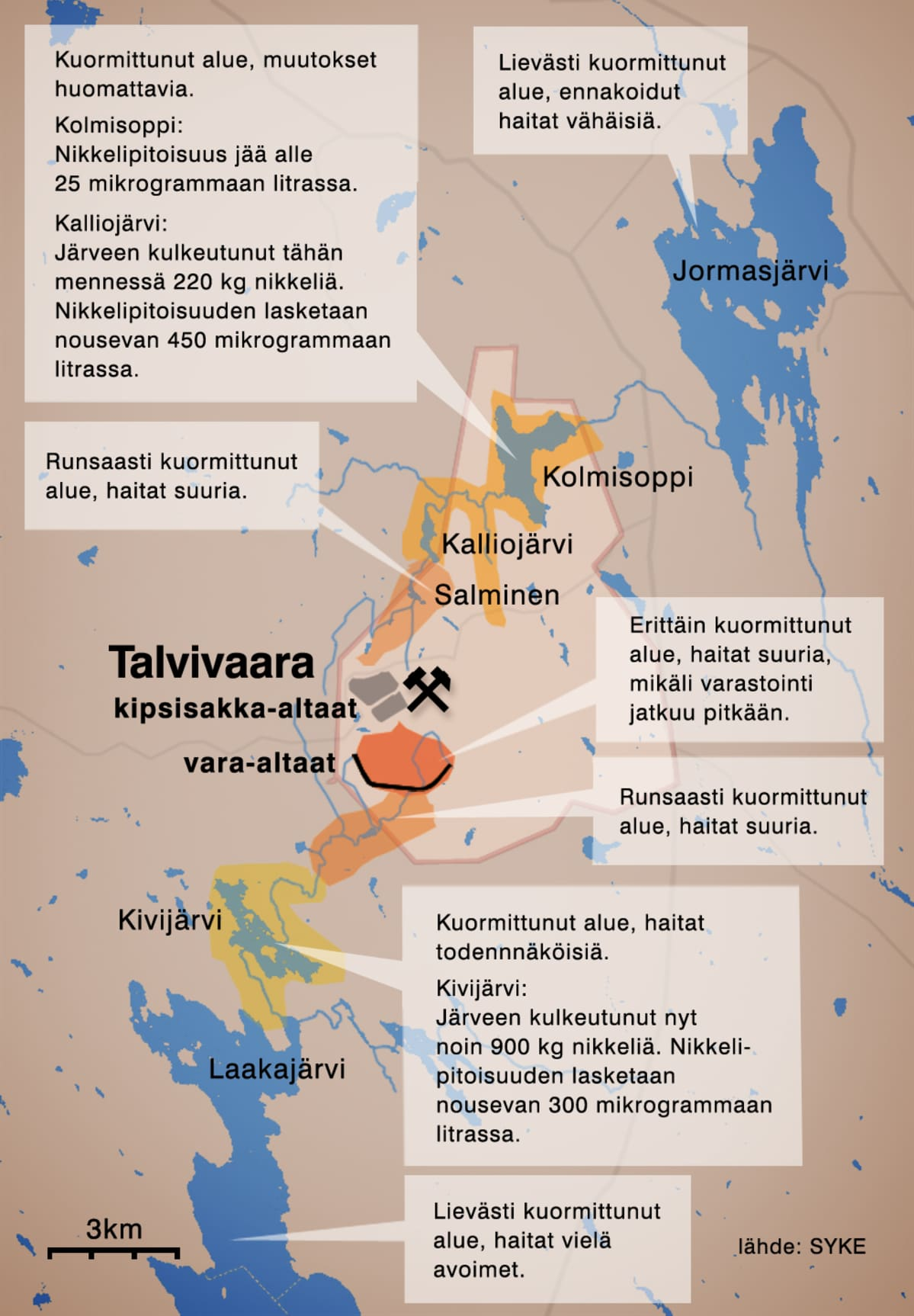 Talvivaaran Ymparistovaikutukset Pahenevat Yle Uutiset Yle Fi