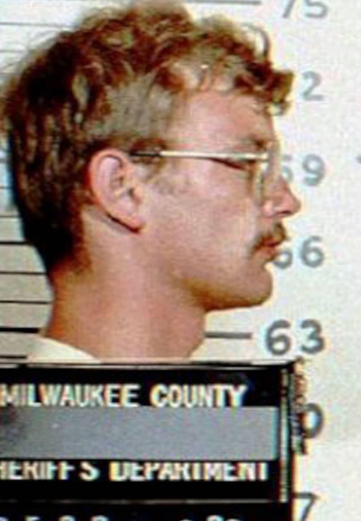 Poliisin kuva Jeffrey Dahmerista.