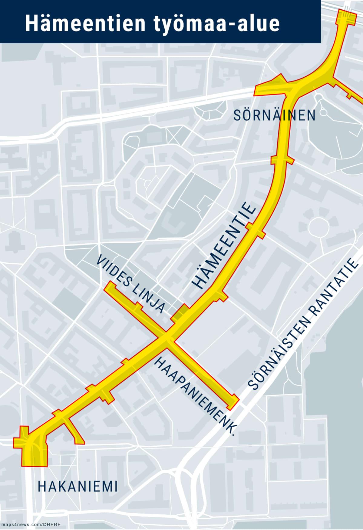 Hämeentien työmaa-alue, Helsinki