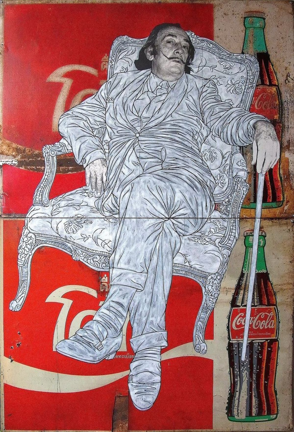 Pakpoom Silaphan: Dali Sits on Coke, 2014