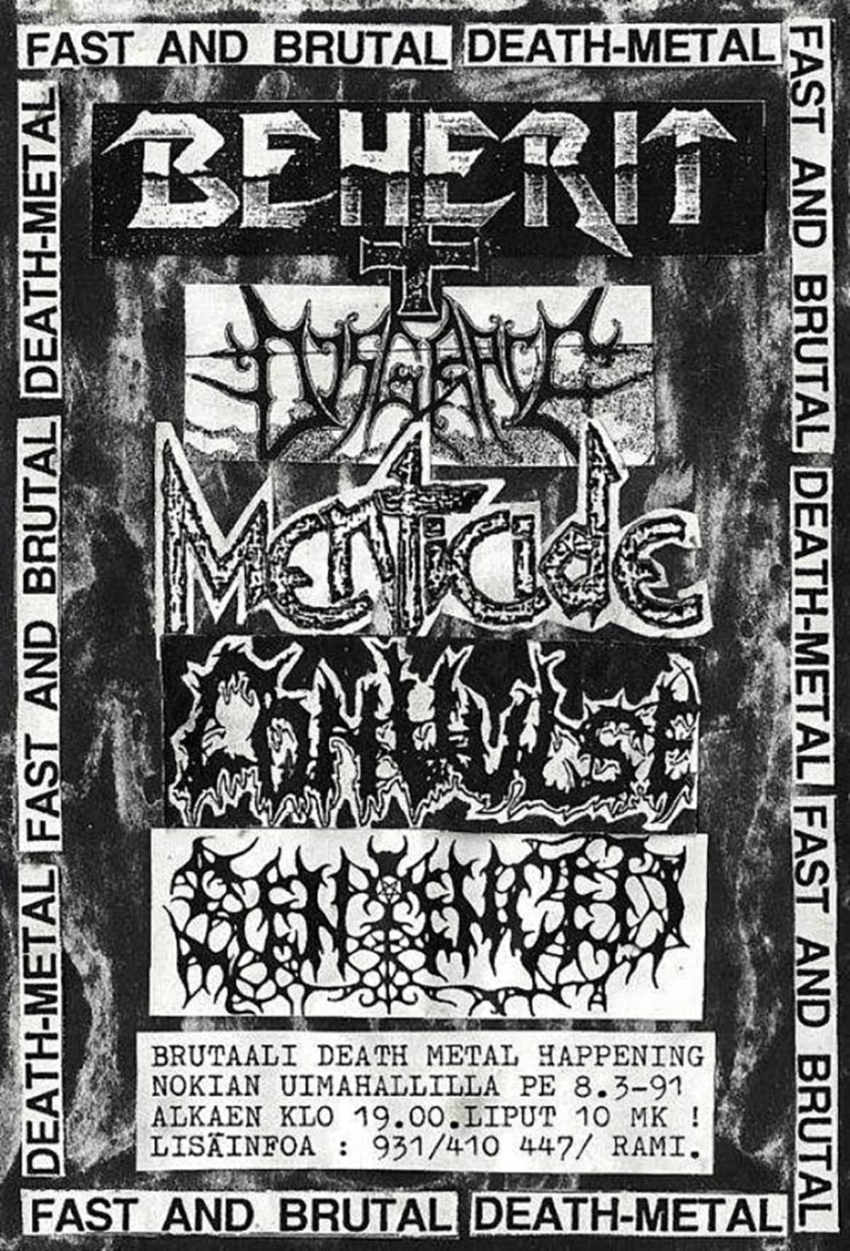 Rotting Ways to Misery, death metal, flyer