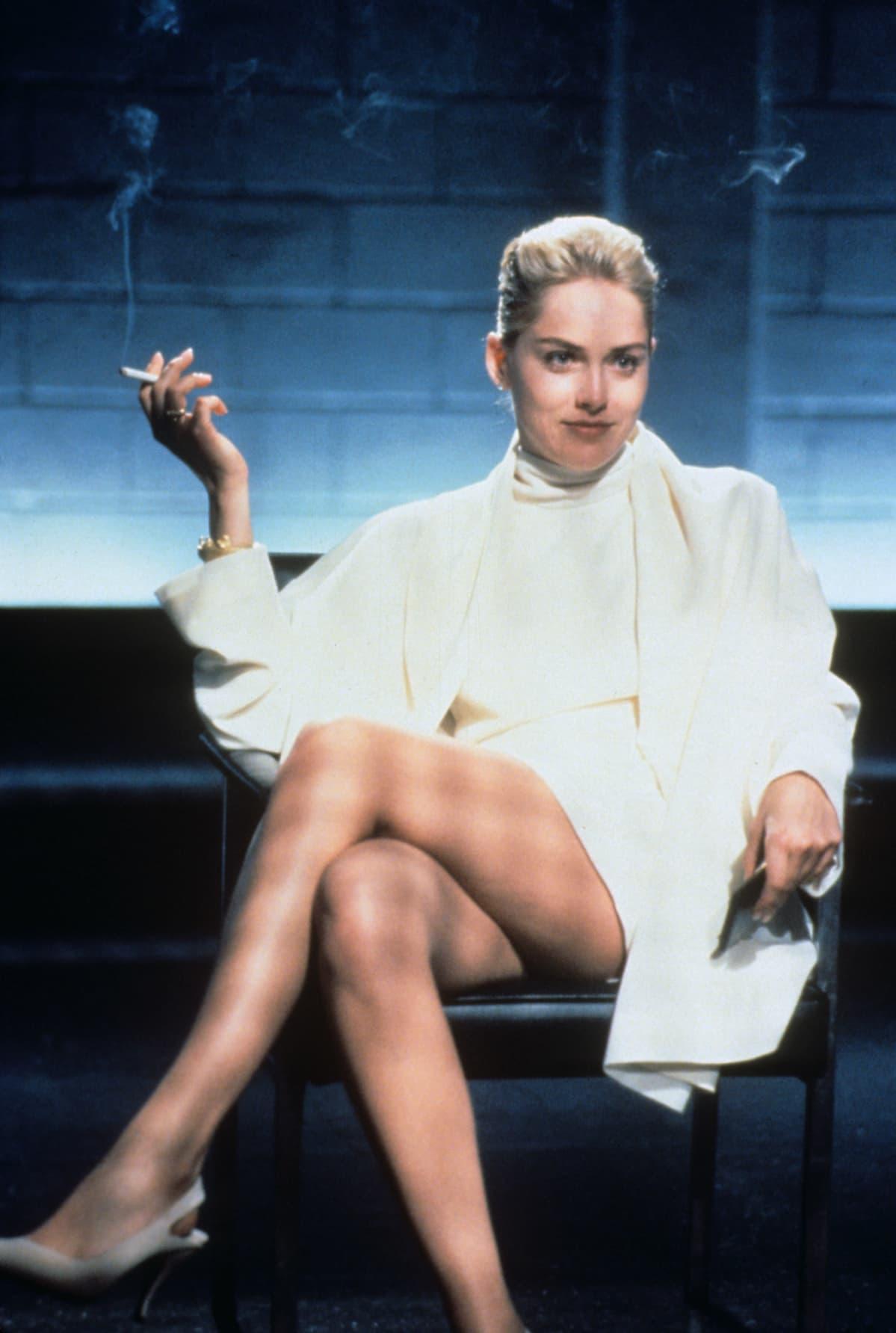 Sharon Stone elokuvassa Basic Instinct