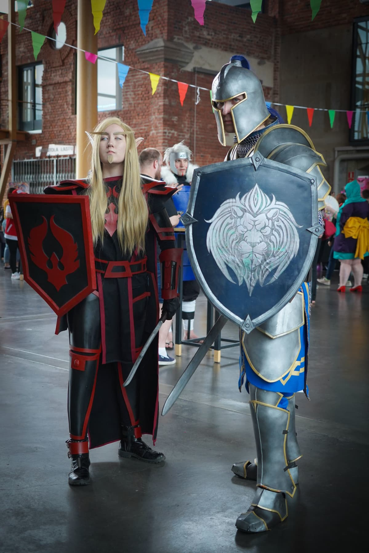 Desucon, cosplay, Eveliina Hillo, Santeri Mononen, Blood Knight, Stormwind Guard