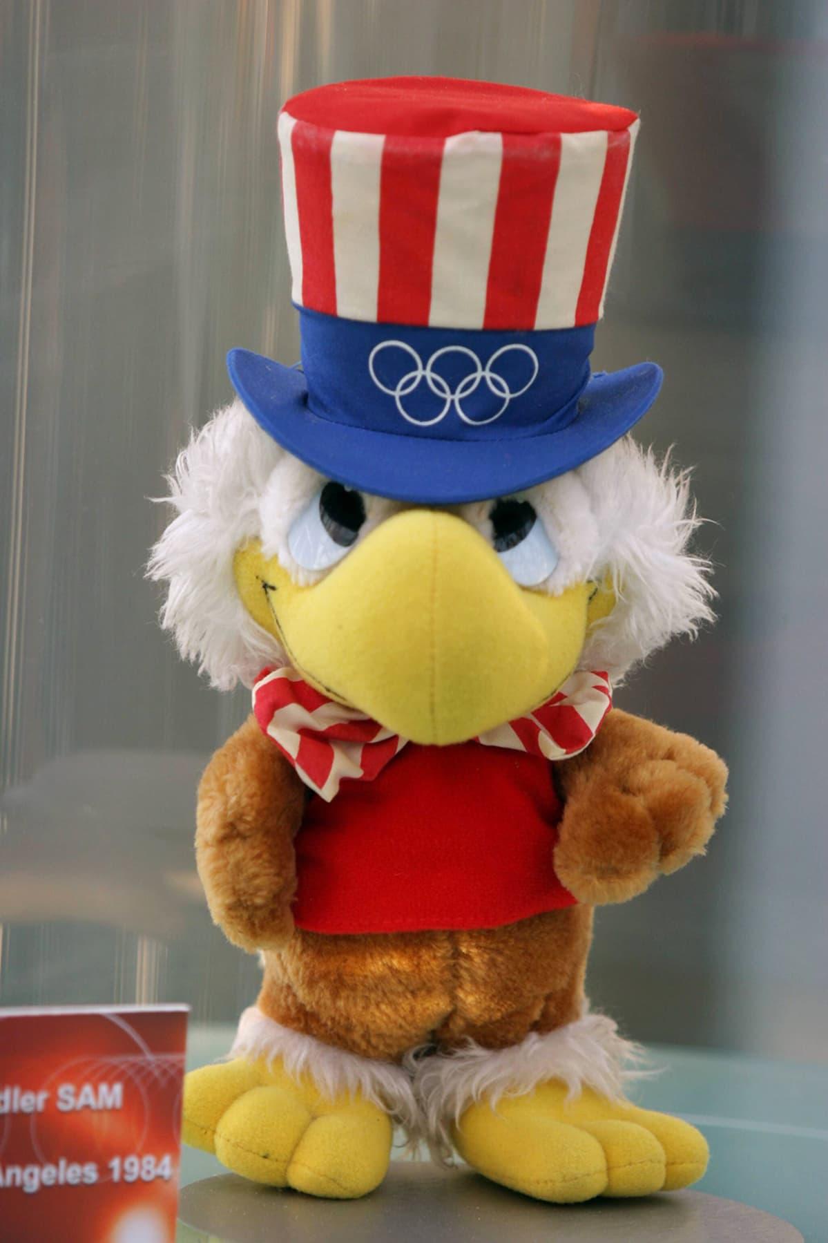 Los Angelesin Olympialaisten maskotti Adler Sam.