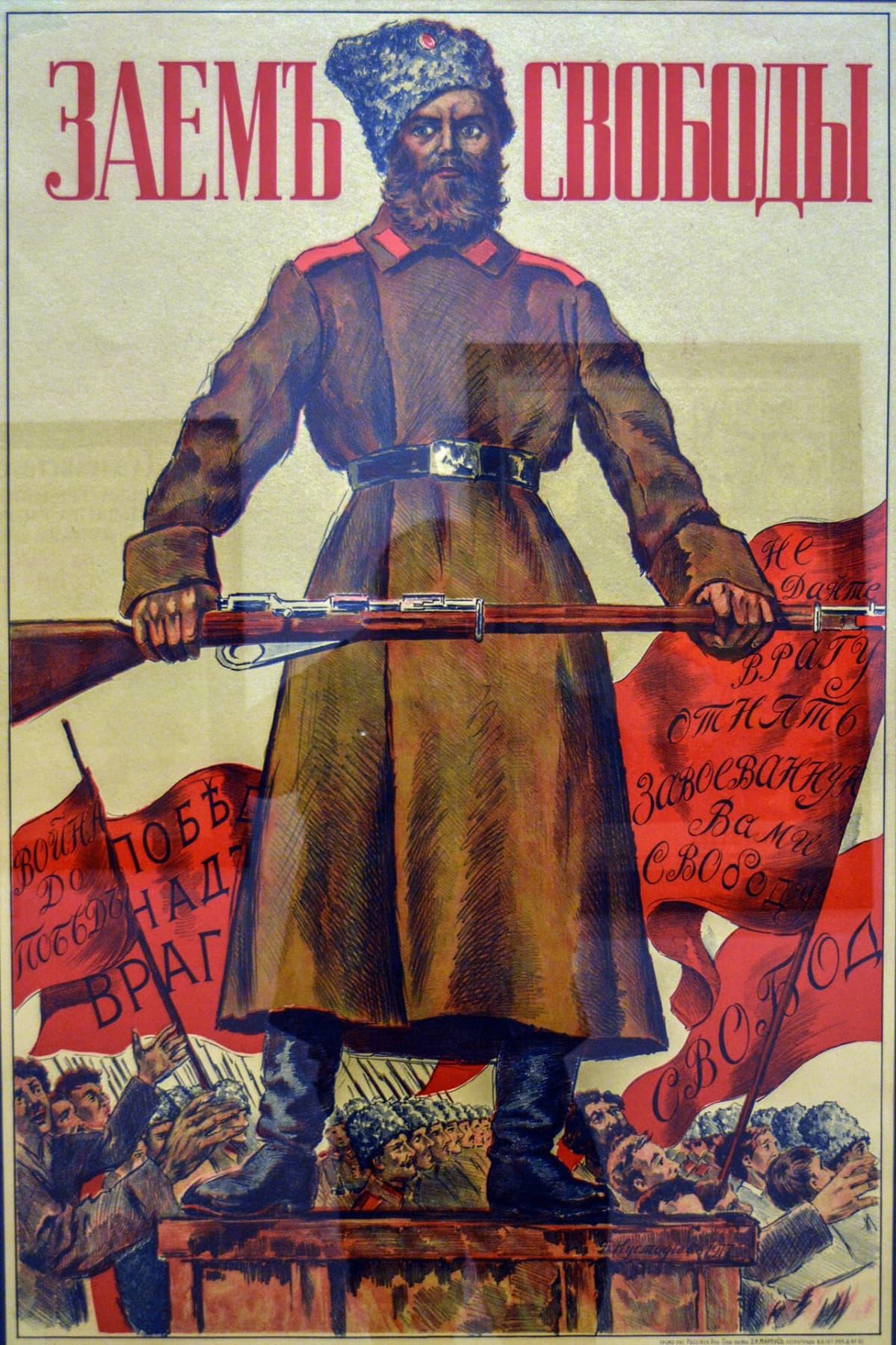 Boris Kustodijev, Propagandataide, juliste, Venäläisen taiteen museo