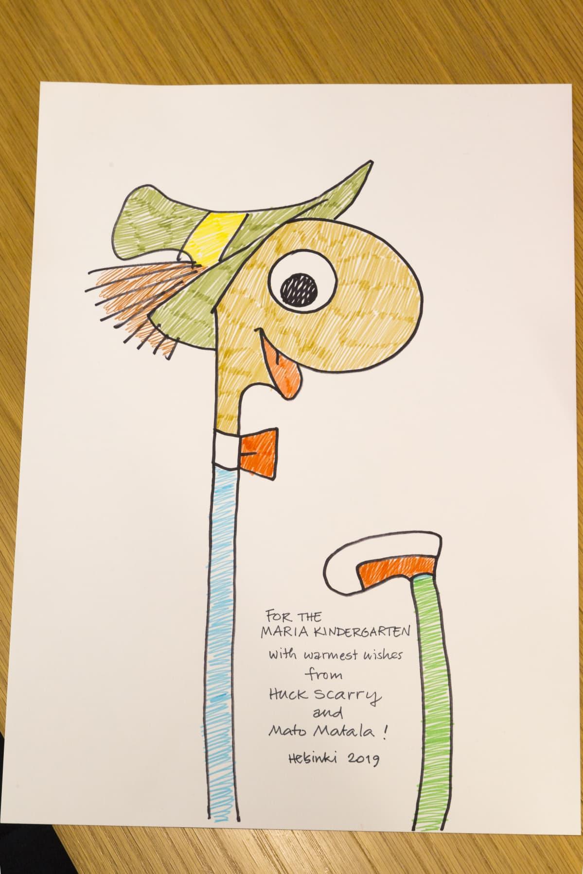 Huck Scarryn lapsille piirtämä Mato Matala.