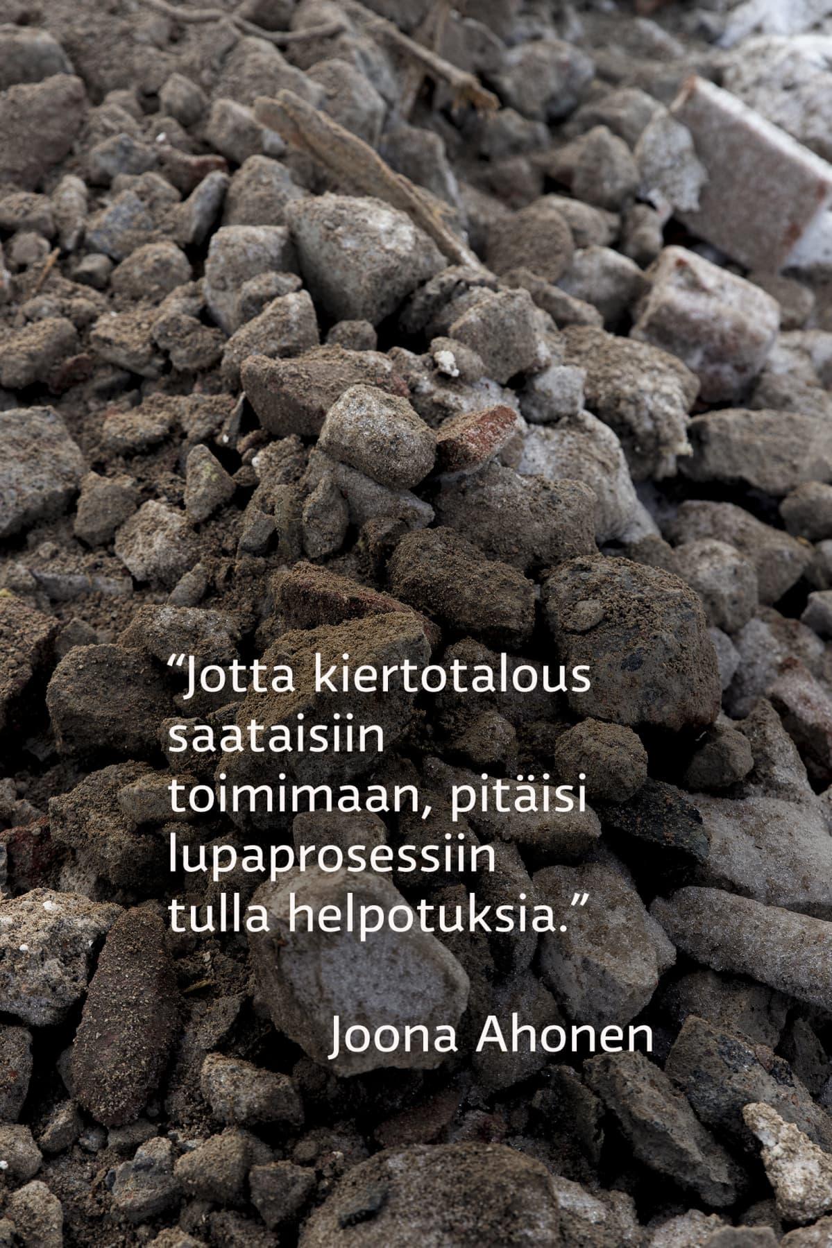 Jotta kiertotalous saataisiin toimimaan, pitäisi lupaprosessiin tulla helpotuksia, sanoo Joona Ahonen.