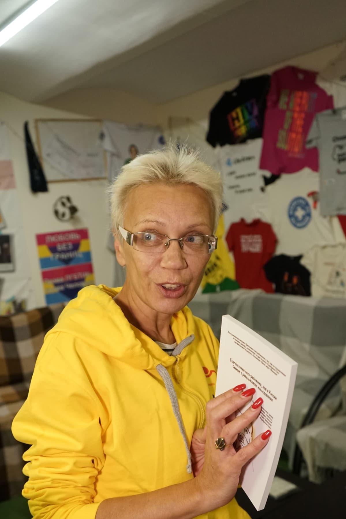 Irina Maslova on pietarilaisen seksityöläisten Silver Rose järjestön toiminnanjohtaja