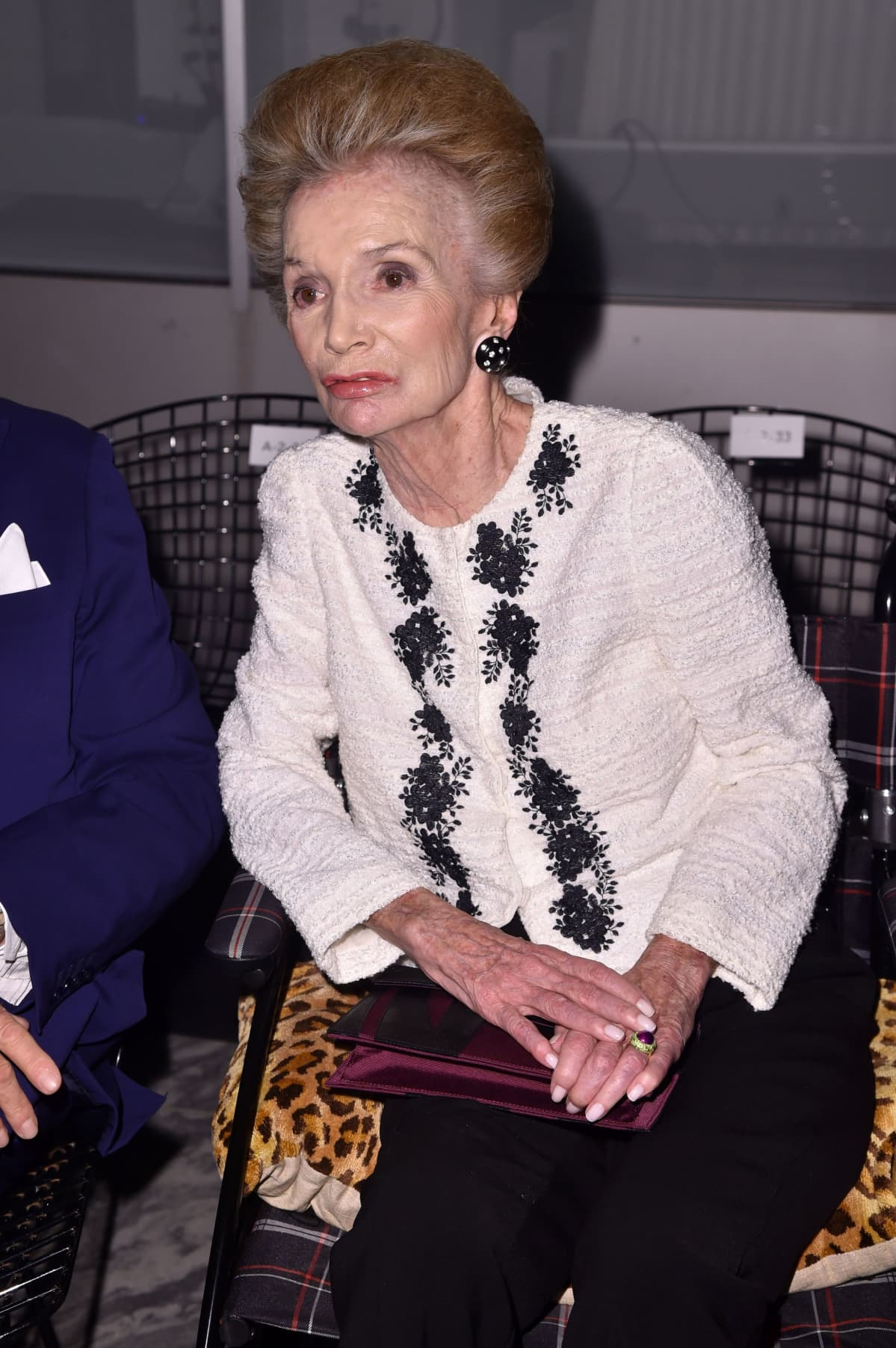 Lee Radziwill kuvattuna New Yorkin muotiviikoilla syyskuussa 2017.