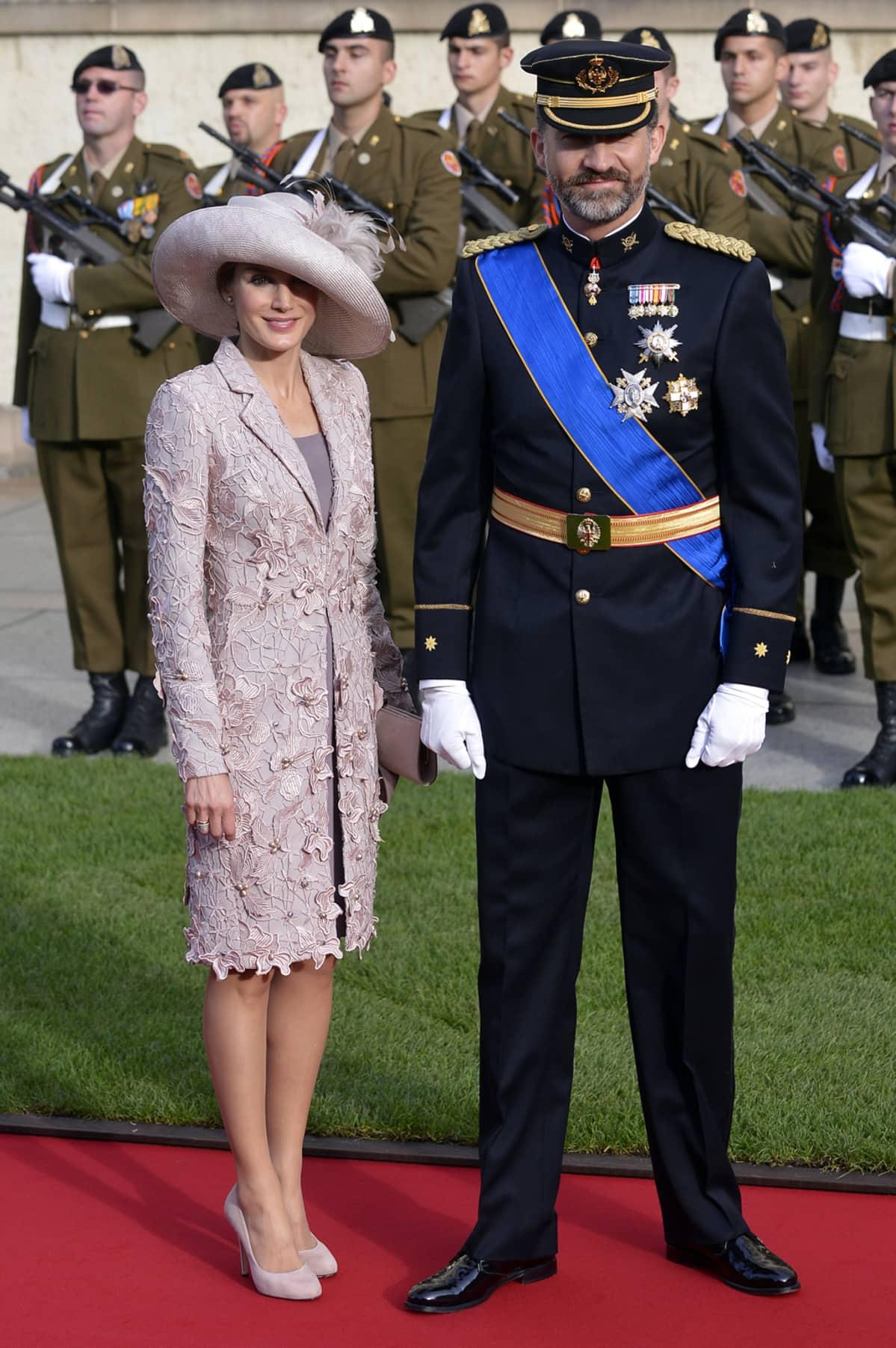 Espanjan prinsessa Letizia ja prinssi Felipe.