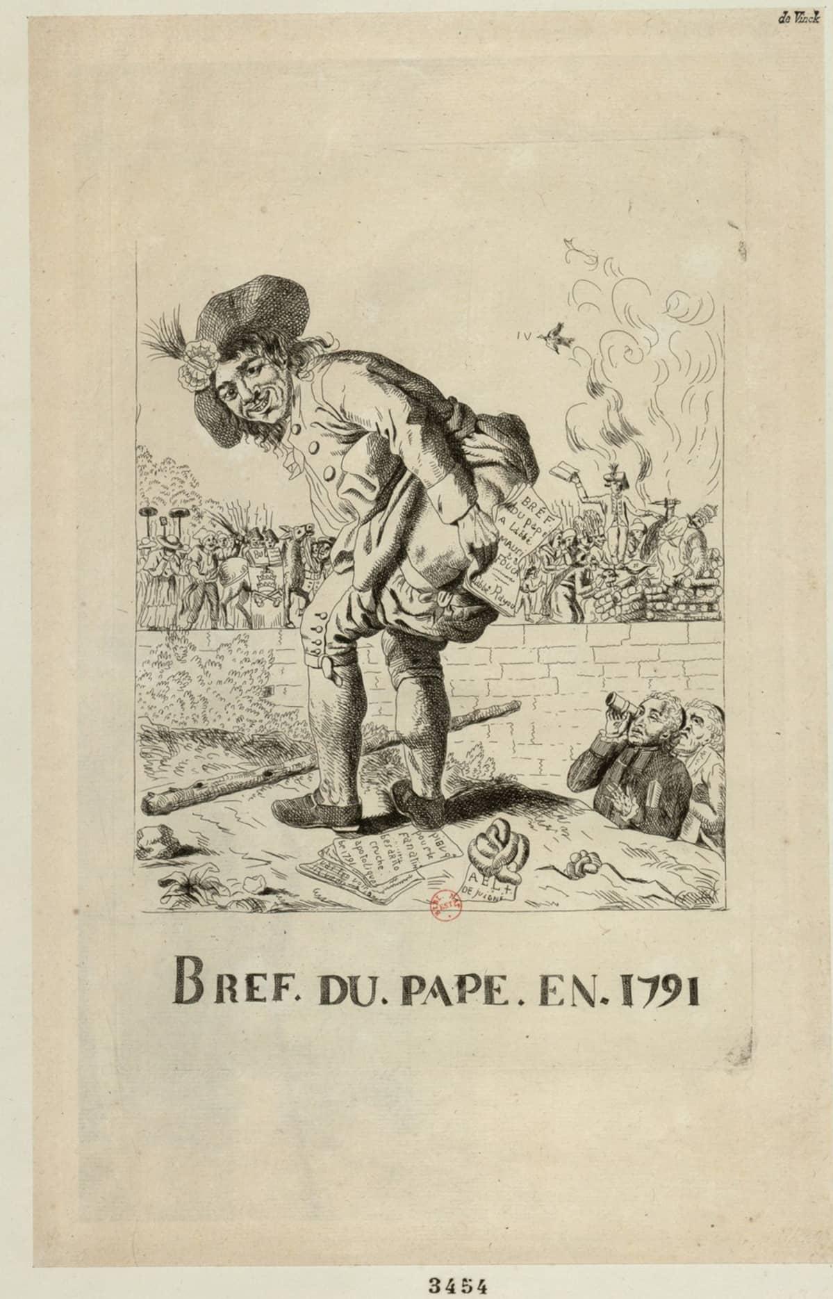 Bref du Pape en 1791 -pilapiirros
