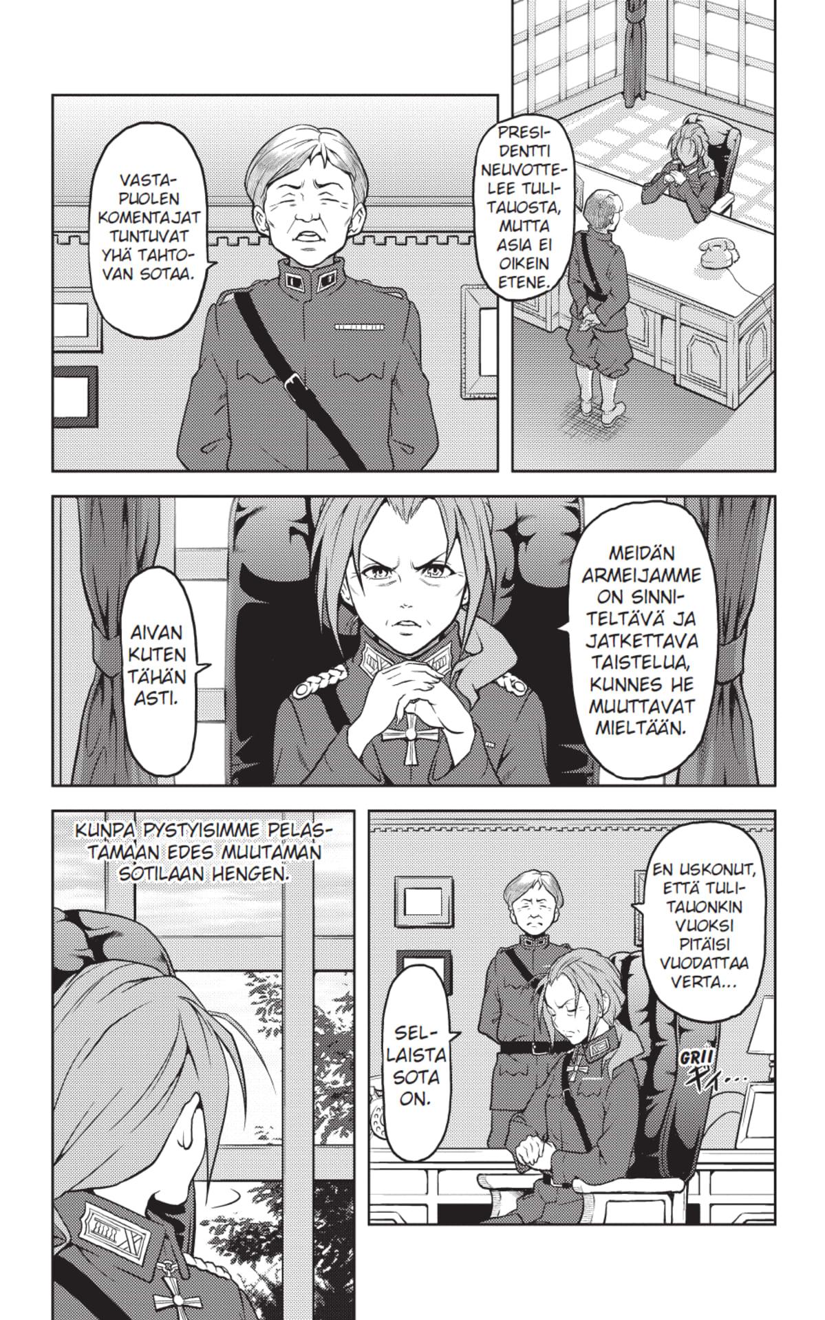 Valkoinen Noita, manga, Mannerheim