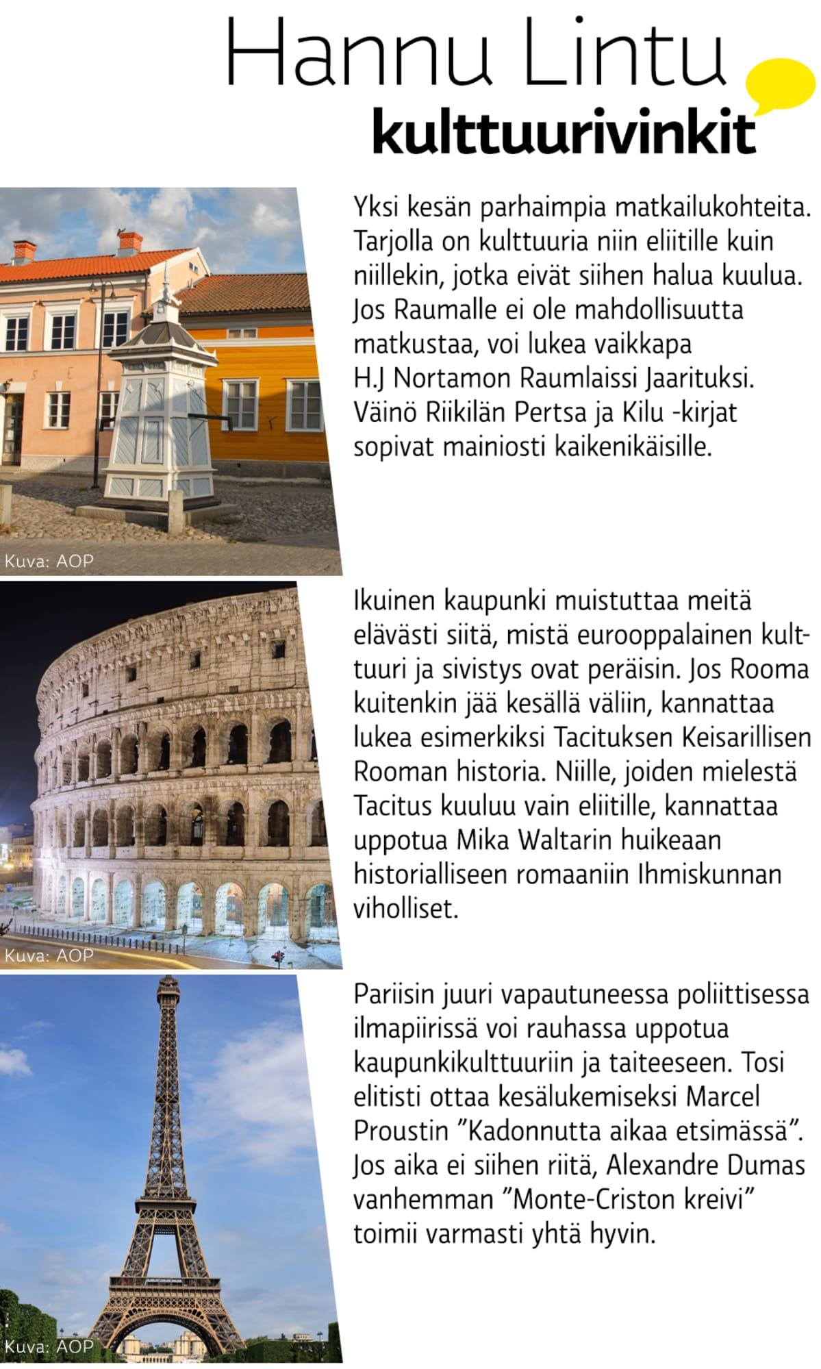 Hannu Linnun kulttuurivinkit