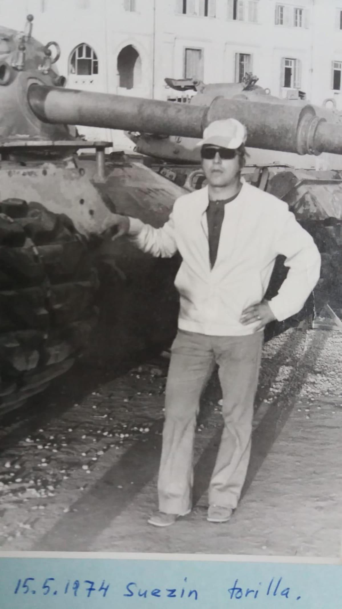 Arvi Lind Suezin torilla 1974