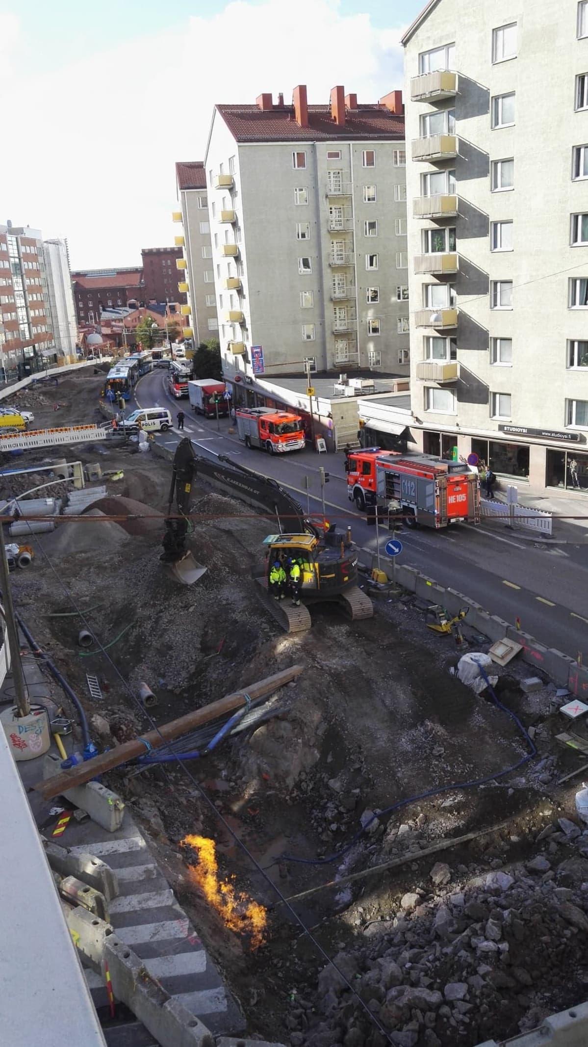 Tulipalo Käenkujalla.