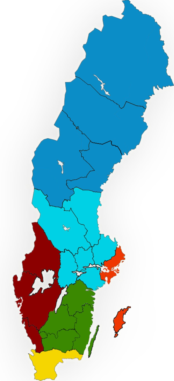 Ruotsi suunnittelee läänijakoa uusiksi. 21 läänistä ja maakäräjästä tulisi kuusi suuraluetta.