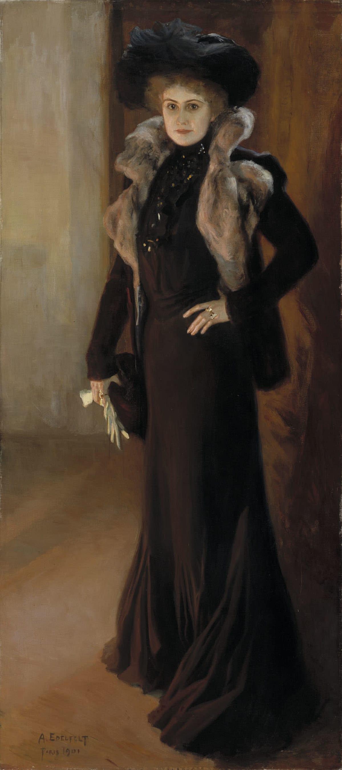 Albert Edelfeltin maalaama kuva oopperalaulaja Aino Acktésta