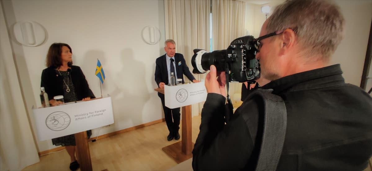 Ruotsin vastikään tehtävässään aloittanut ulkoministeri Ann Linde teki ensimmäisen vierailunsa Suomeen 13. syyskuuta 2019. Linde tapasi ulkoministeri Pekka Haaviston.