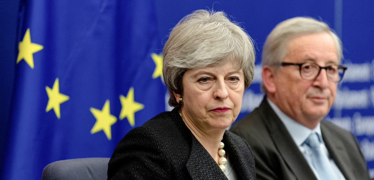 Theresa May  ja Jean-Claude Juncker
