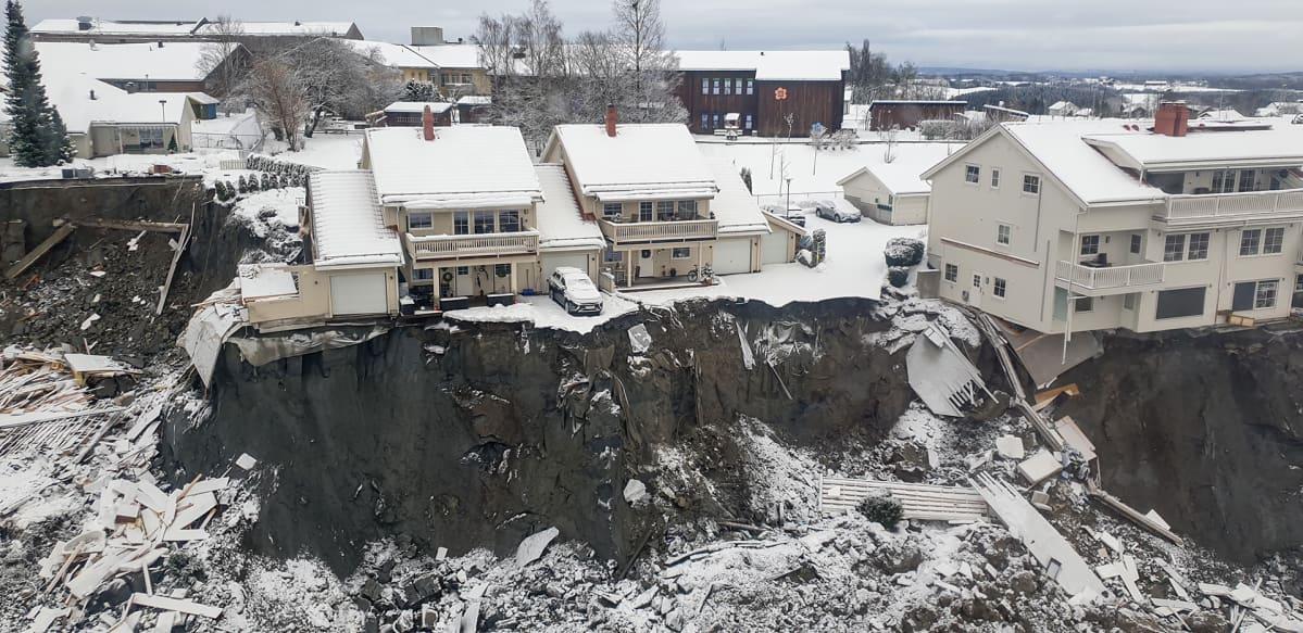 Maanvyörymäalue Gjerdrumissa Norjassa.