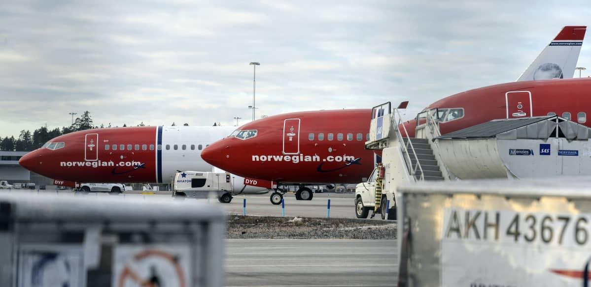 Norwegianin koneita.