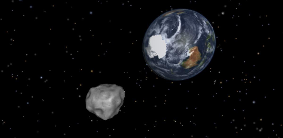Nasan havainnekuva asteroidi 2012 DA14:sta.