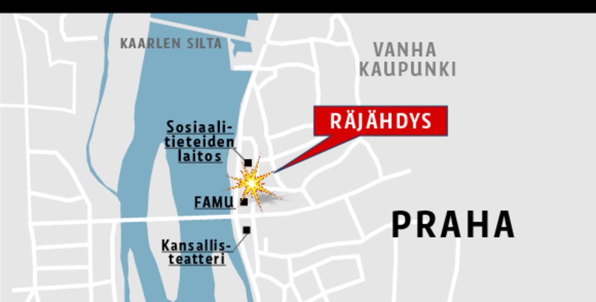Prahan Keskustassa Rajahti Useita Ihmisia Loukkaantui Yle