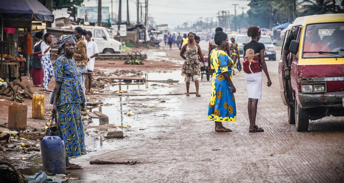 Katu Benin Cityssä.