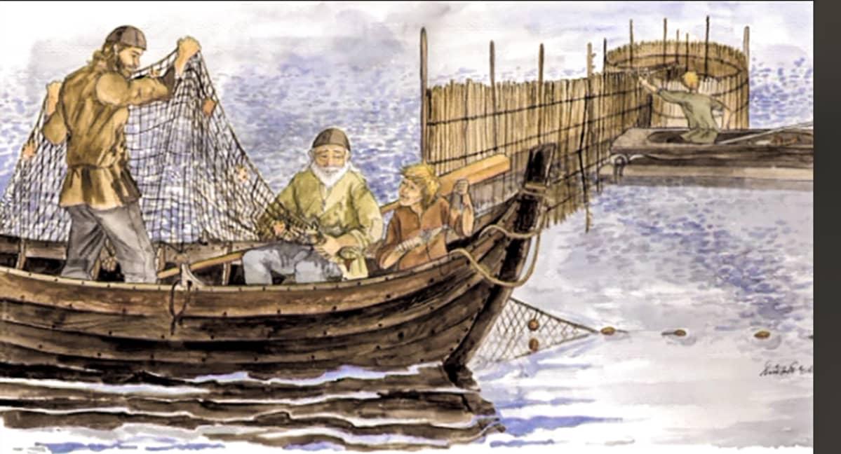 vene ja verkollakalastajia