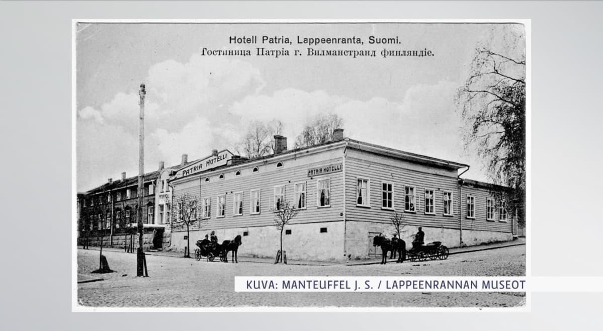 Hotelli Patria Lappeenrannassa 1900-luvun alussa.