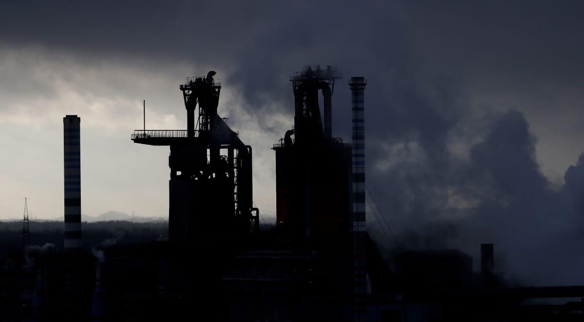 ThyssenKruppin terästehdas Saksan Duisburgissa. Saksa on EU:n suurin teräksentuottaja.