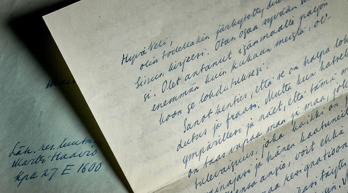 Käsin kirjoitettu kirje alkaen sanoilla: Hyvä veli...