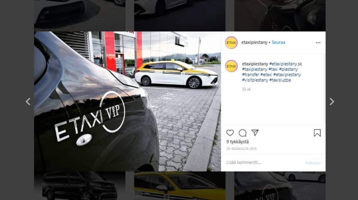 Kuvakaappaus ETAXI:n Instagramista.