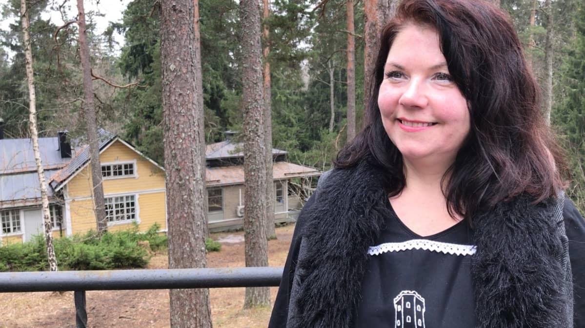 Aulangon tornikahvilan yrittäjä Tuuli Arponen
