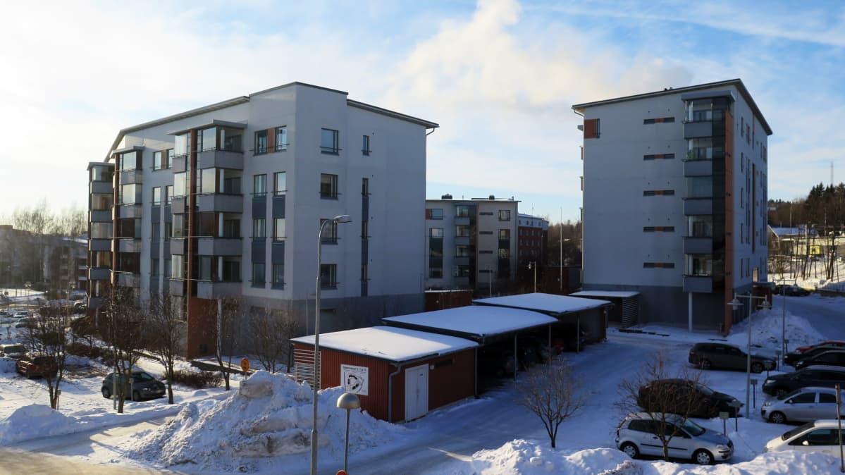 Kerrostaloja Tampereen Haapalinnassa