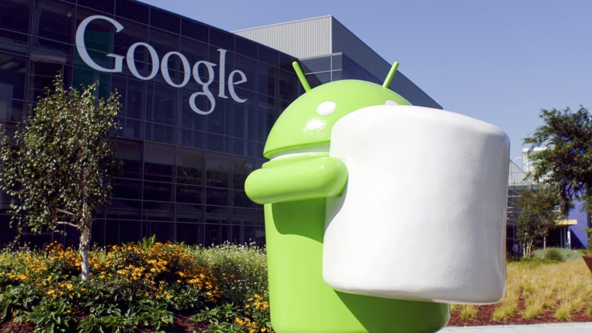 Android Marshmallow -patsas Googlen päämajan edessä