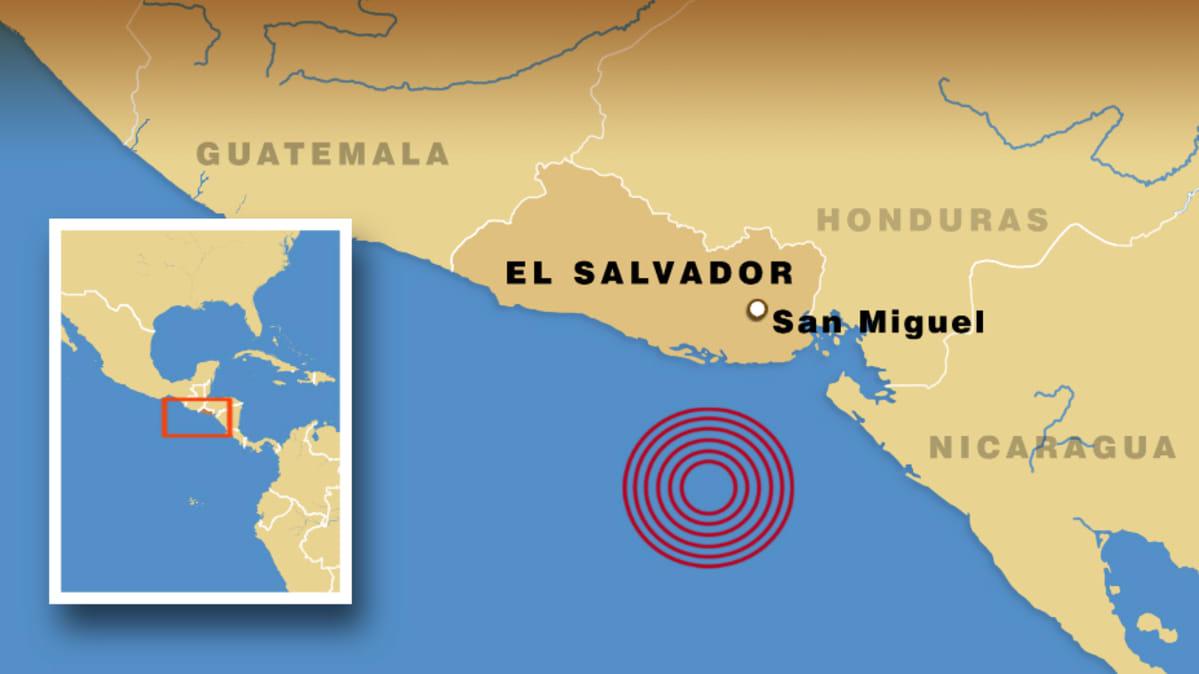 El Salvadorin Edustalla Voimakas Maanjaristys Yle Uutiset Yle Fi