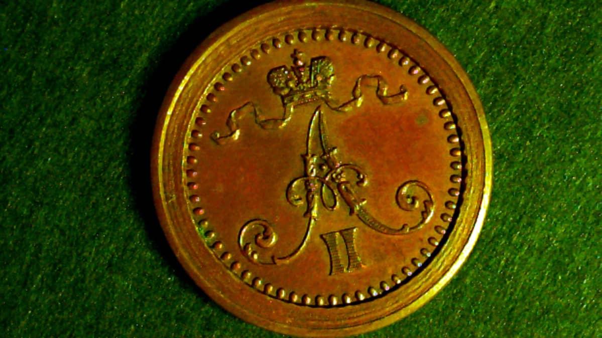 1 pennin koeraha vuodelta1863