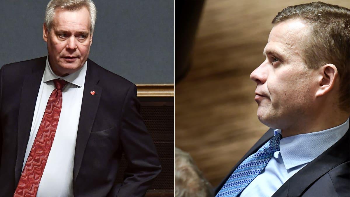 Antti Rinne ja Petteri Orpo