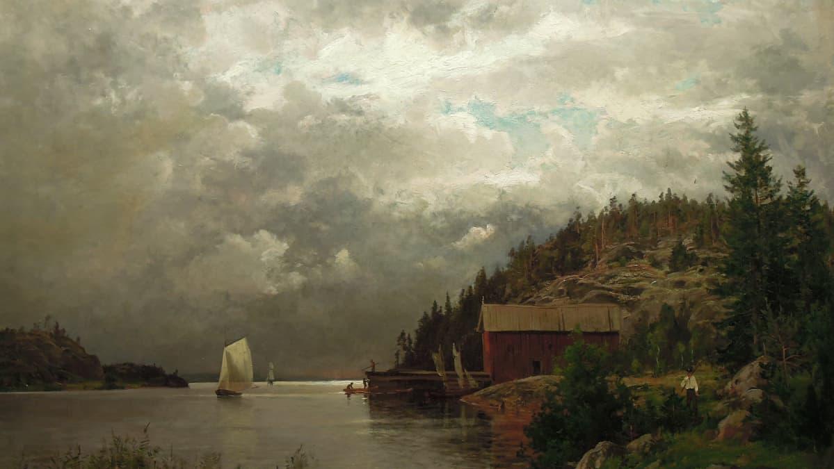 Hjalmar Munsterhjelmin Ilta Barösundissa on museojohtajan suosikkiteos.
