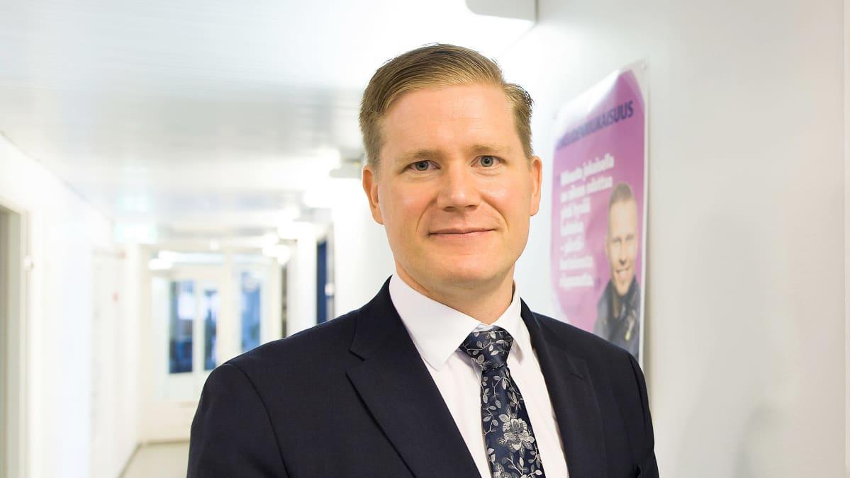 Suomen Poliisijärjestöjen liiton puheenjohtaja Jonne Rinne.