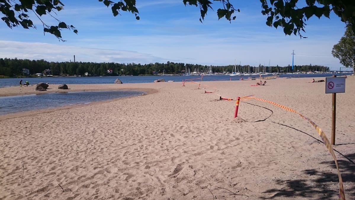 Hietasaaren rannalla on nyt hiljaista.