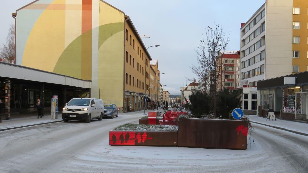 Pihakatu Jyväskylän keskustassa Kauppakadulla.