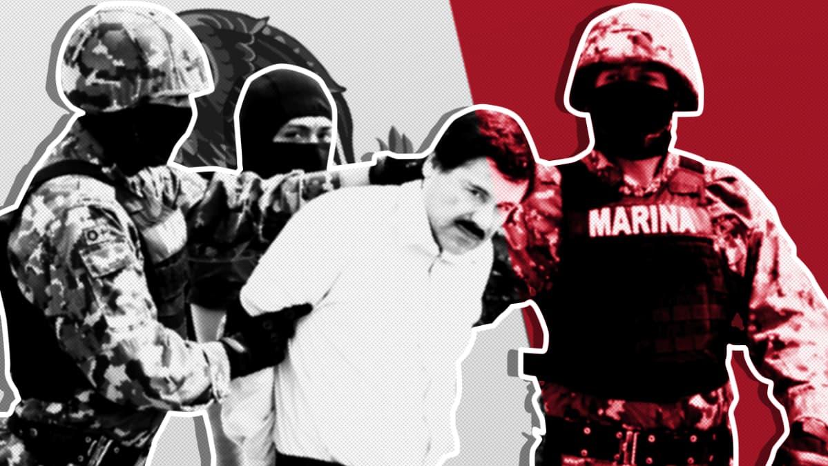 Meksikolainen huumepomo El Chapo pidätettiin toisen kerran vuonna 2014.
