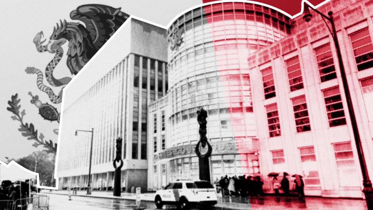 El Chapon oikeudenkäynti käydään Brooklynin oikeustalolla New Yorkissa.