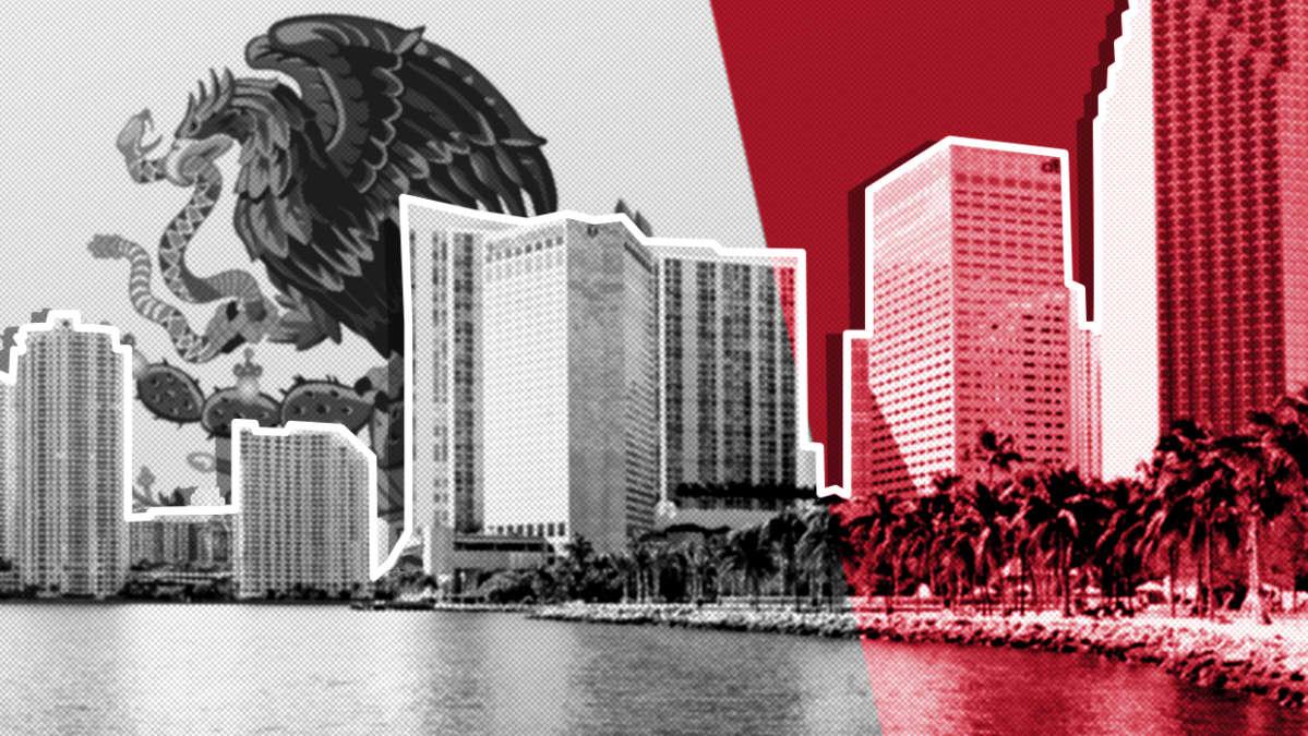 Miami Beachin silhuetti.