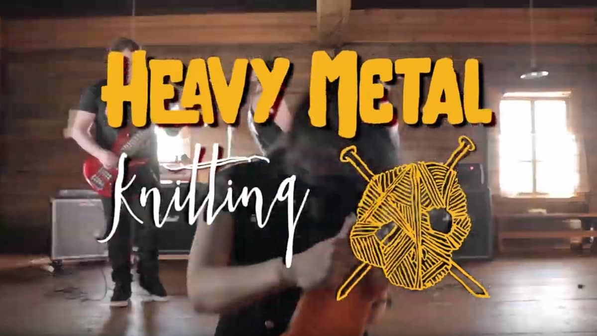 Heavy metal knitting -logo